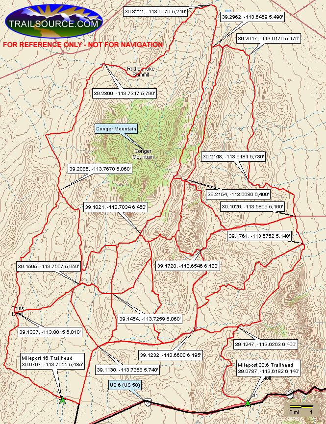 Conger Mountain Dirt Biking Map