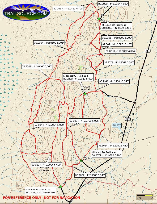Cricket Mountains Dirt Biking Map