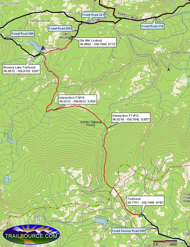 Old Carter Trail Dirt Biking Map