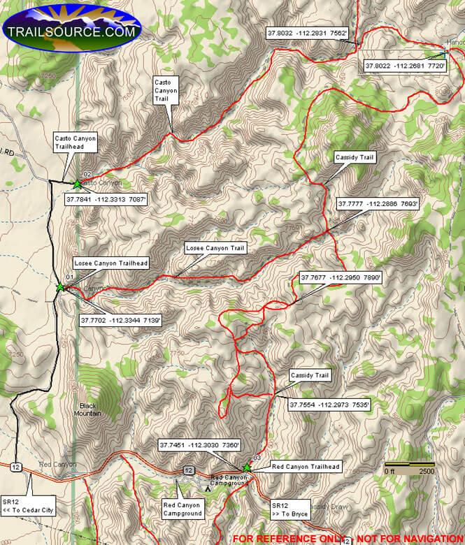 Casto Canyon Riding Trail Dirt Biking Map
