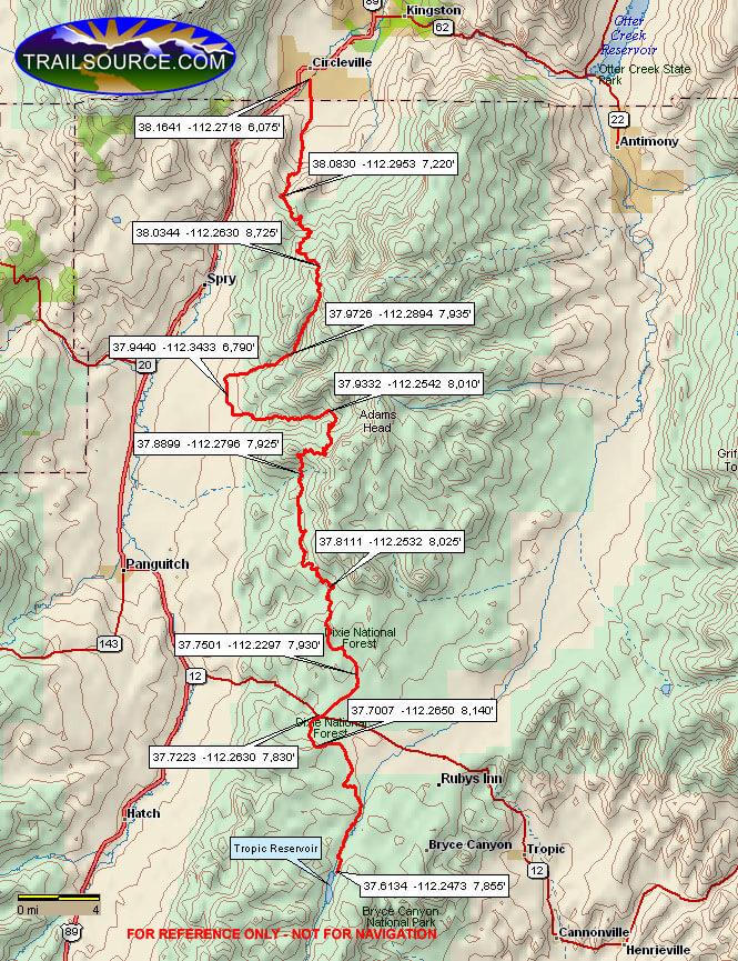 Fremont ATV Trail Dirt Biking Map