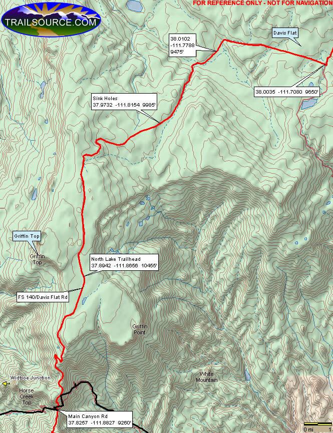 Griffin Top ATV Trail Dirt Biking Map