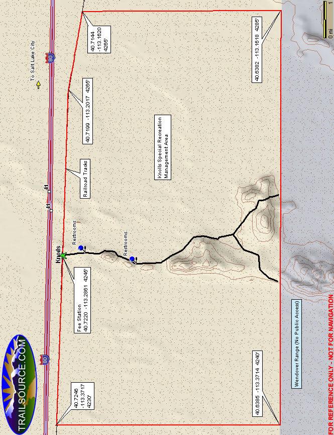 Knolls ORV Area Dirt Biking Map