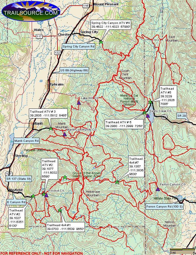 Arapeen Trail Dirt Biking Map