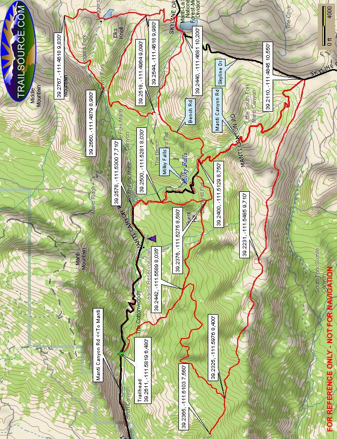 Patton ATV Trail Dirt Biking Map