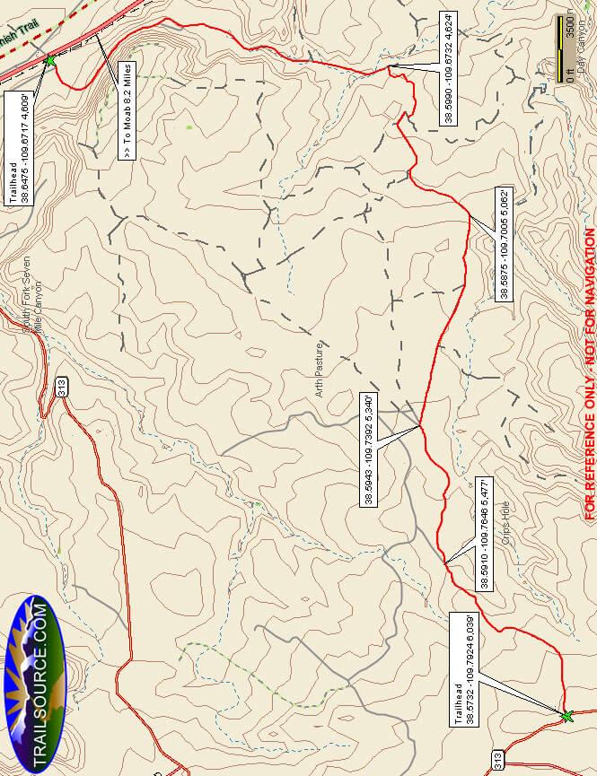 Gemini Bridges Dirt Biking Map