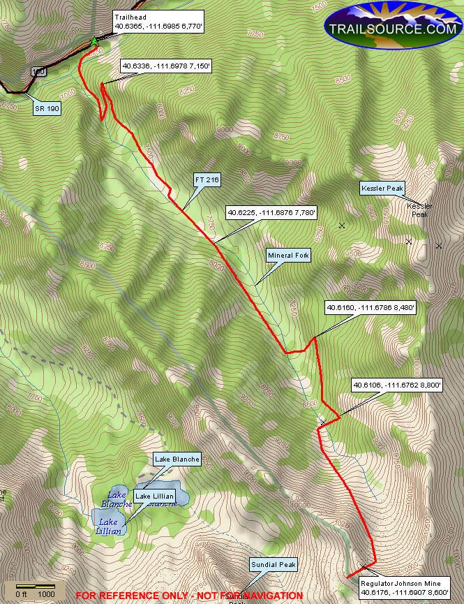 Mineral Fork ATV Trail Dirt Biking Map