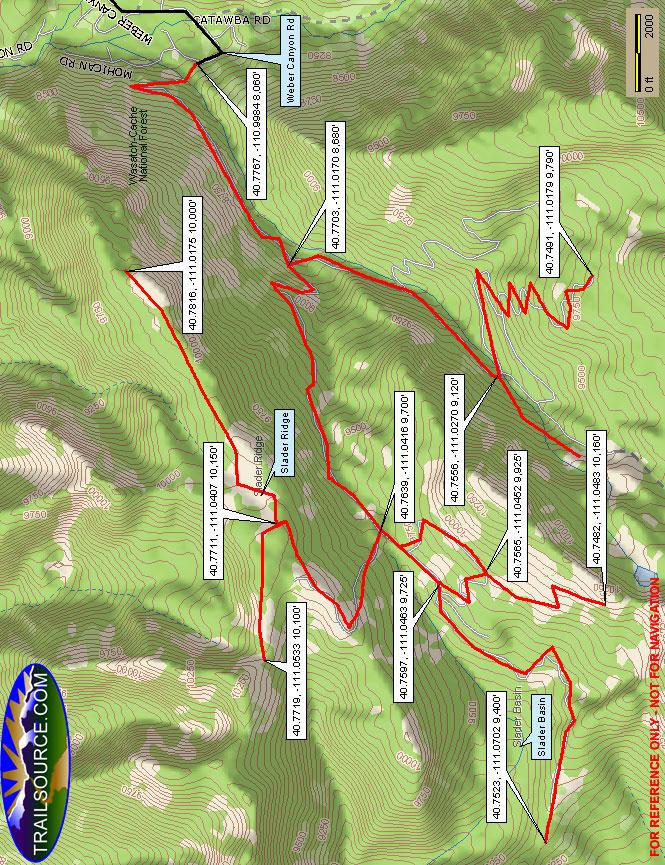 Slader Ridge Trail Dirt Biking Map