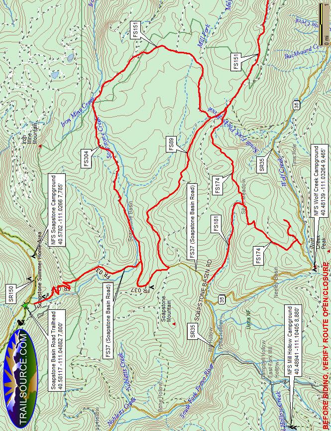 Soapstone Basin Road Dirt Biking Map