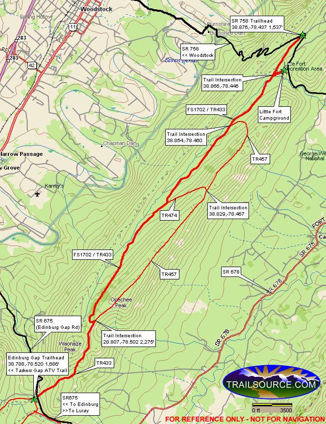 Peters Mill Run Trail Dirt Biking Map