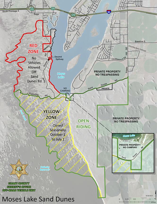 Grant County ORV Area Dirt Biking Map