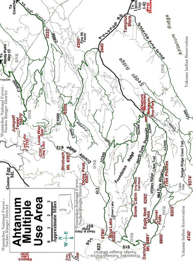 Gray Rock ORV Trailhead Dirt Biking Map