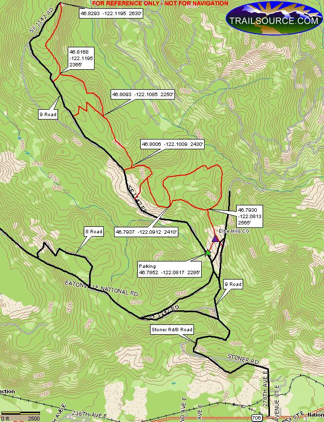 Elbe Hills State Forest Dirt Biking Map