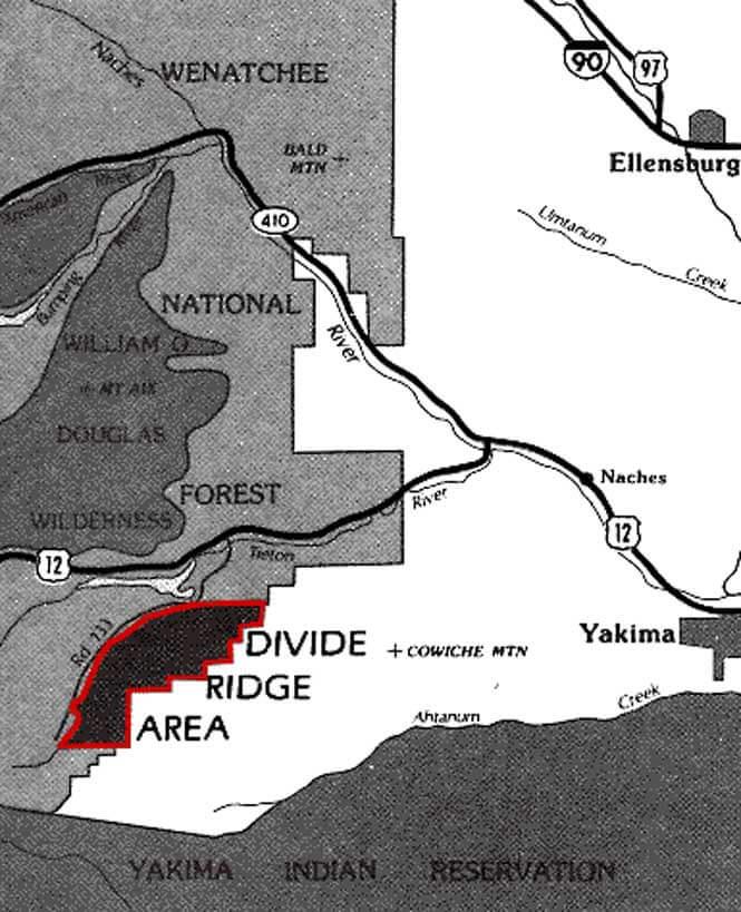 Divide Ridge ORV Dirt Biking Map