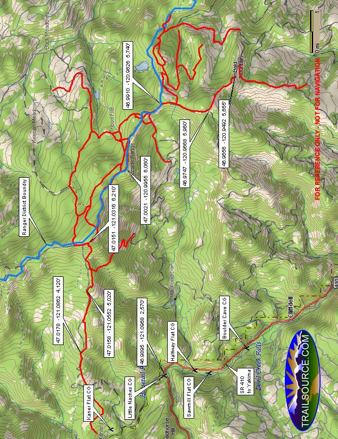 Naches Basin Dirt Biking Map
