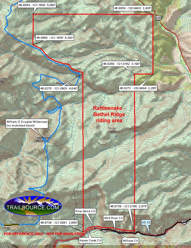 Rattlesnake - Bethel Ridge Dirt Biking Map