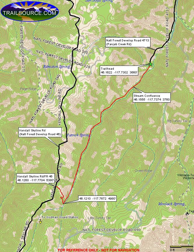 Meadow Creek Trail Dirt Biking Map