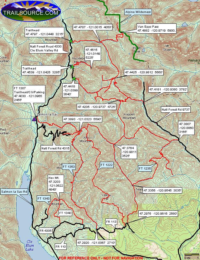 Gallagher Lake / Van Eppe Pass ORV Dirt Biking Map