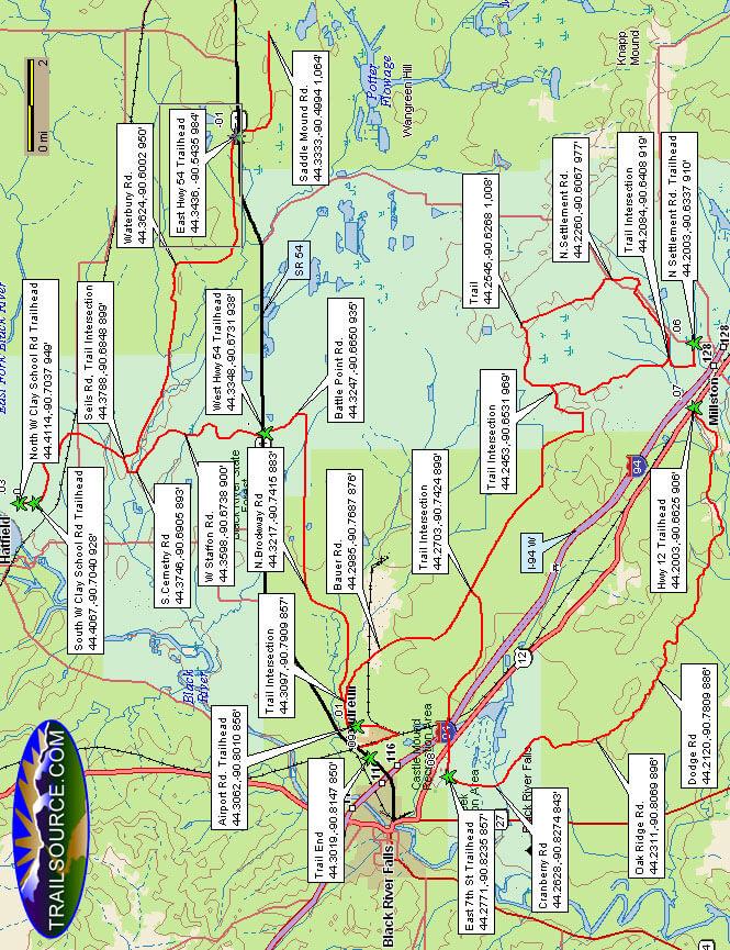 Black River State Forest Dirt Biking Map