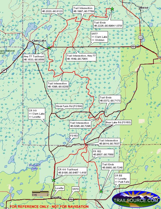 Great Divide Trail Dirt Biking Map