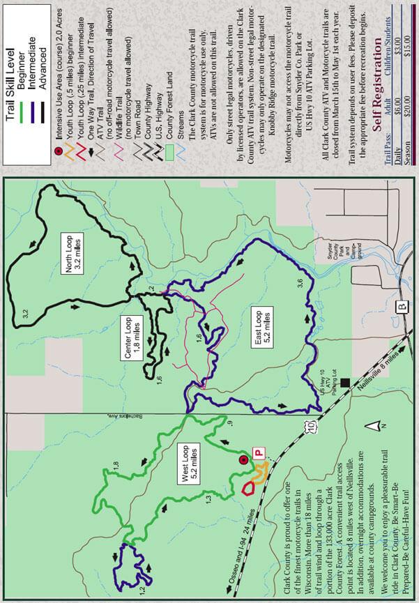 Knobby Ridge Trail System Dirt Biking Map