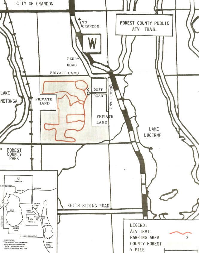 Forest County Dirt Biking Map