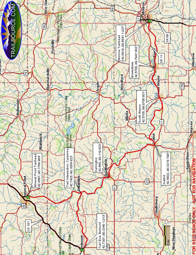 Cheese Country Trail Dirt Biking Map
