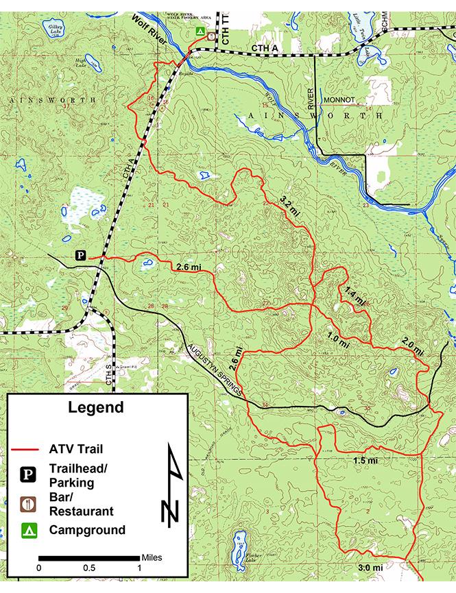 Augustyn Spring Trail Dirt Biking Map