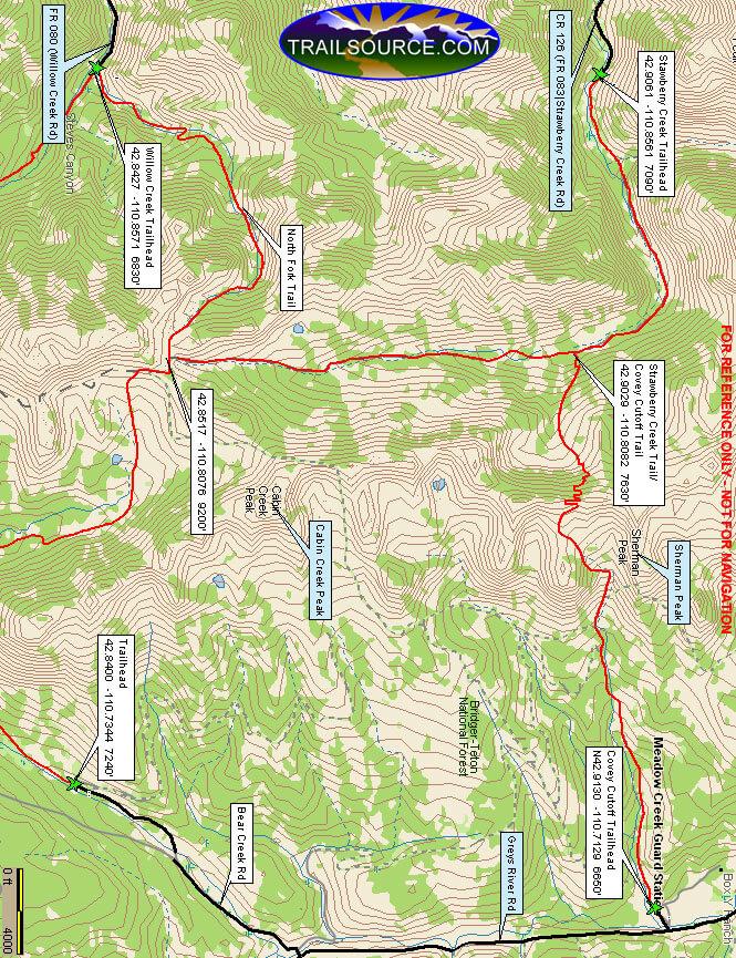 Covey Cutoff Trail Dirt Biking Map