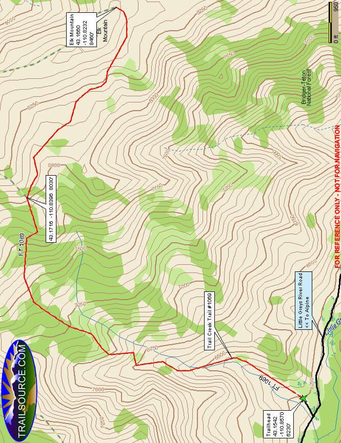 Trail Creek Dirt Biking Map