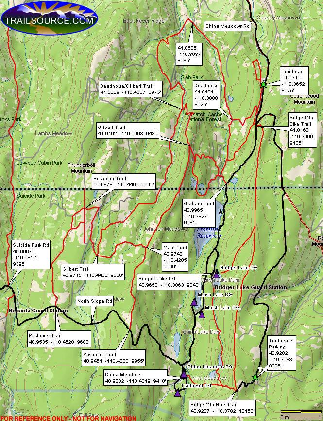Deadhorse ORV Trail Dirt Biking Map