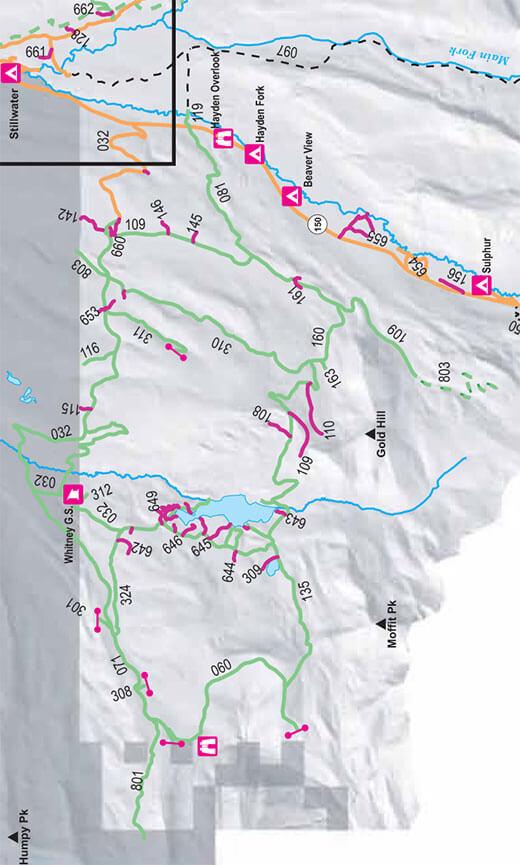 Whitney / Gold Hill ORV Area Dirt Biking Map