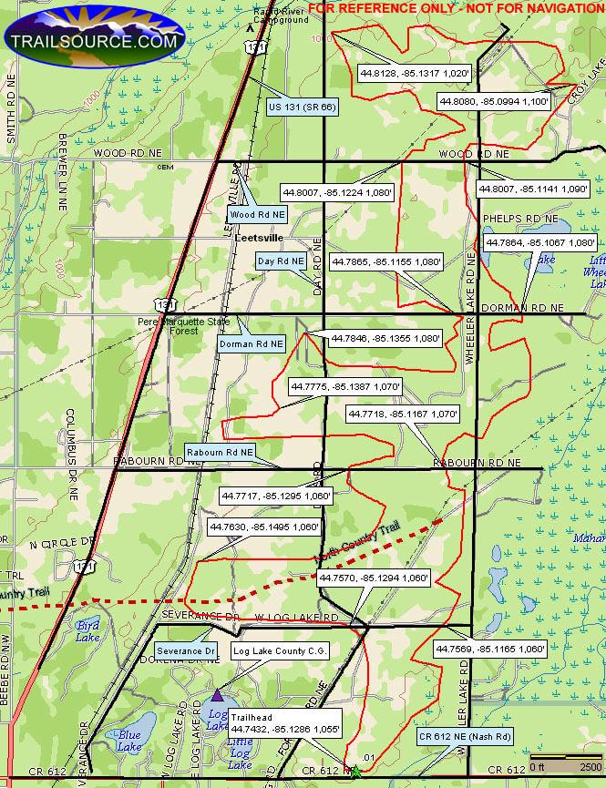 Leetsville Trail ATV Trails Map