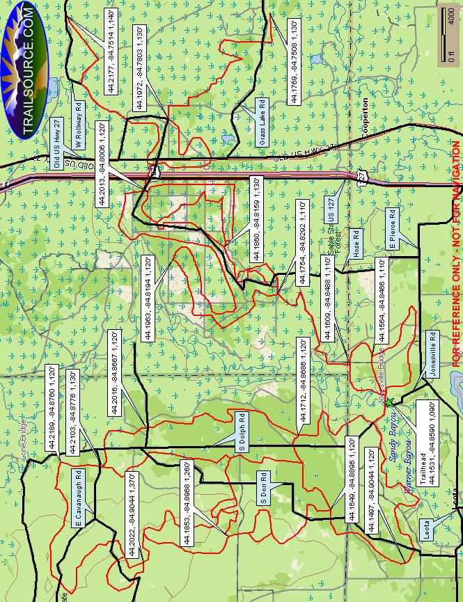 Leota Trail ATV Trails Map