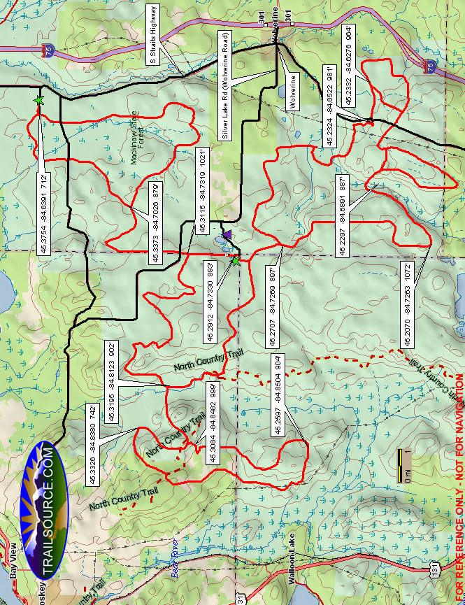 Tomahawk Motorcycle Trail Dirt Biking Map