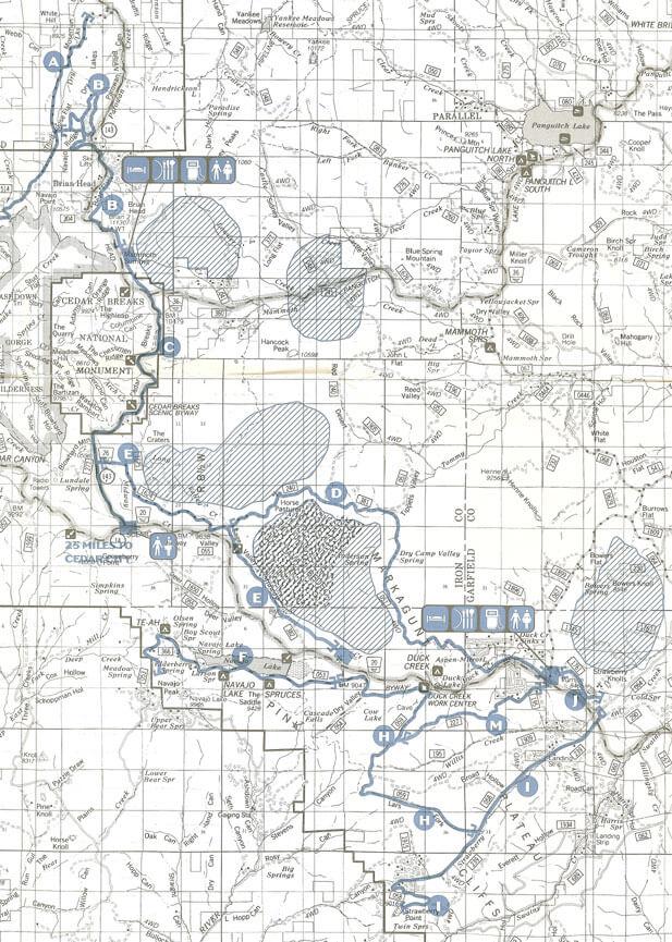 Cedar Mountain Complex Snowmobiling Map