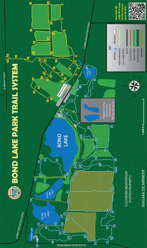 Bond Lake Park Cross Country Skiing Map