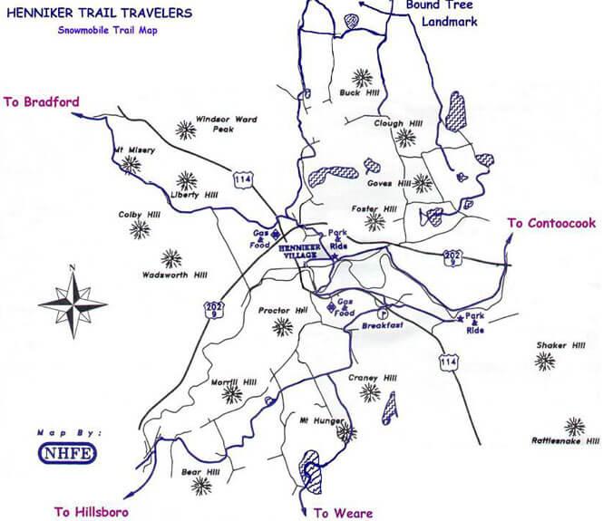 Henniker Snowmobiling Map