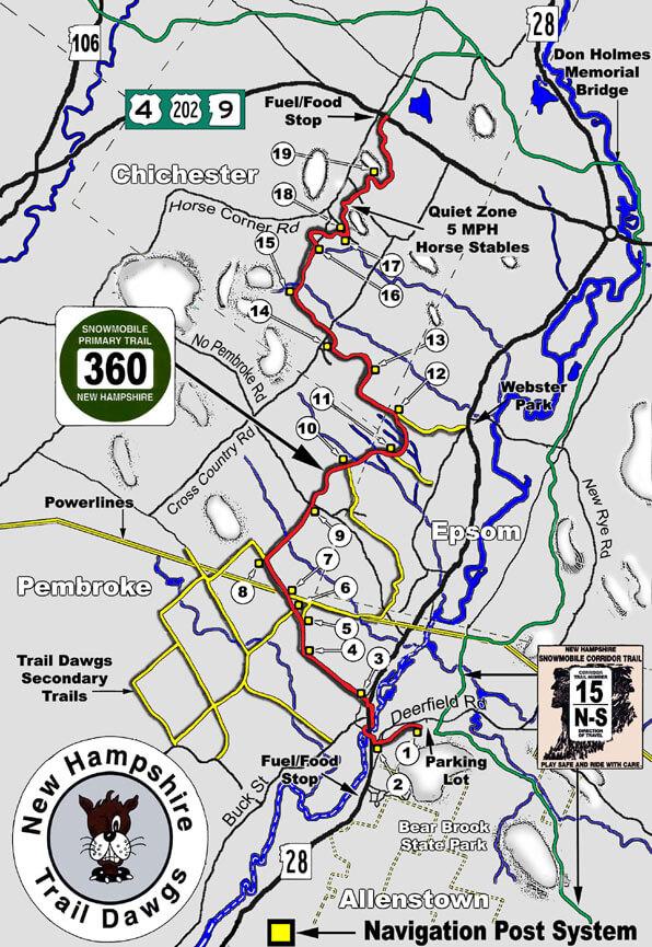 Pembroke / Epsom Snowmobiling Map