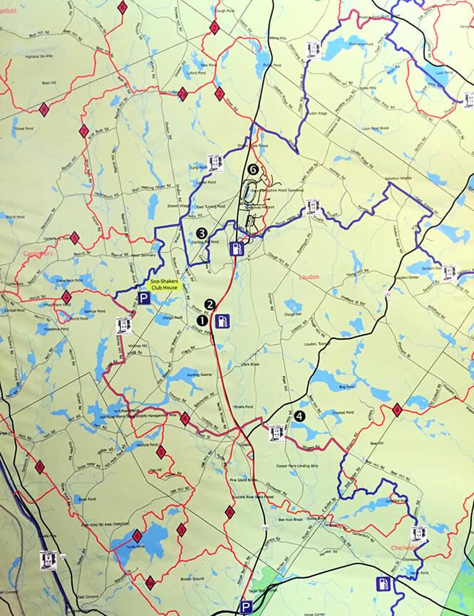 Canterbury Snowmobiling Map
