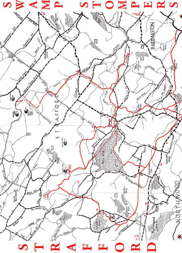Strafford  Snowmobiling Map