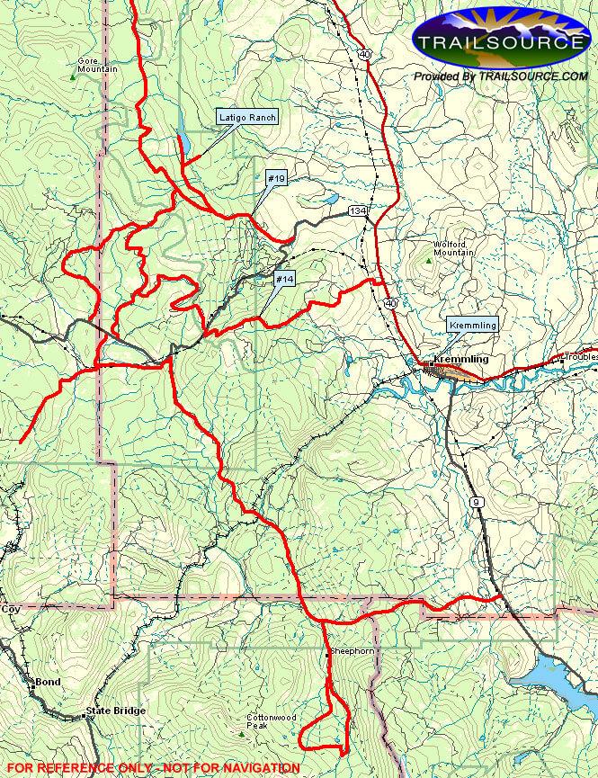 Kremmling Snowmobiling Map