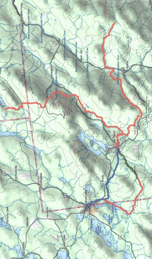 Lake Placid Snowmobiling Map