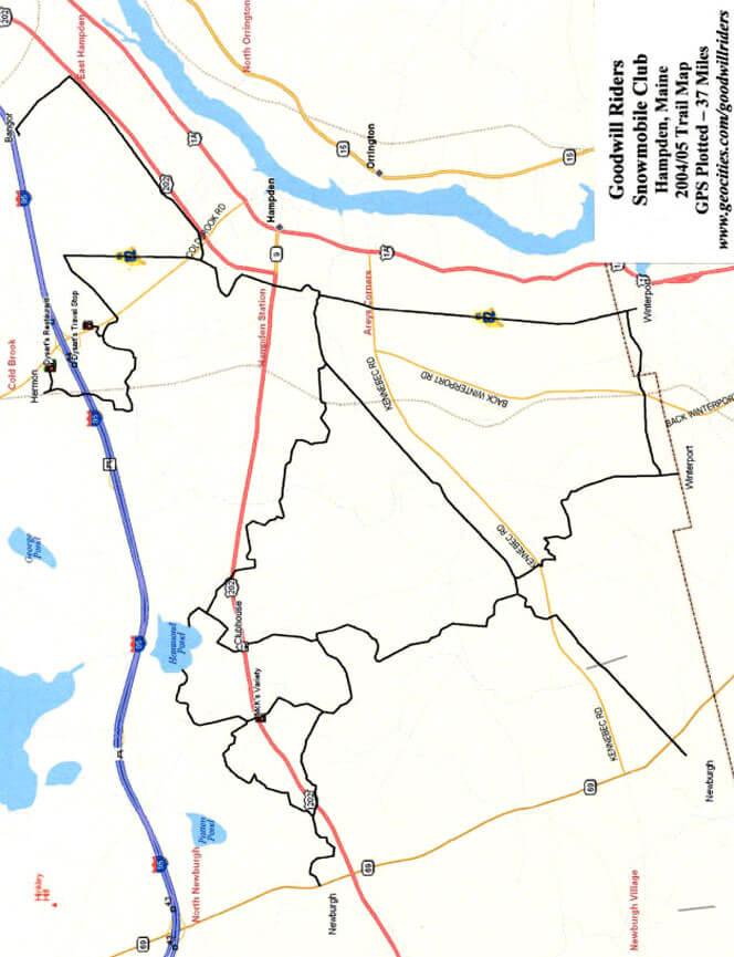 Hampden Snowmobiling Map