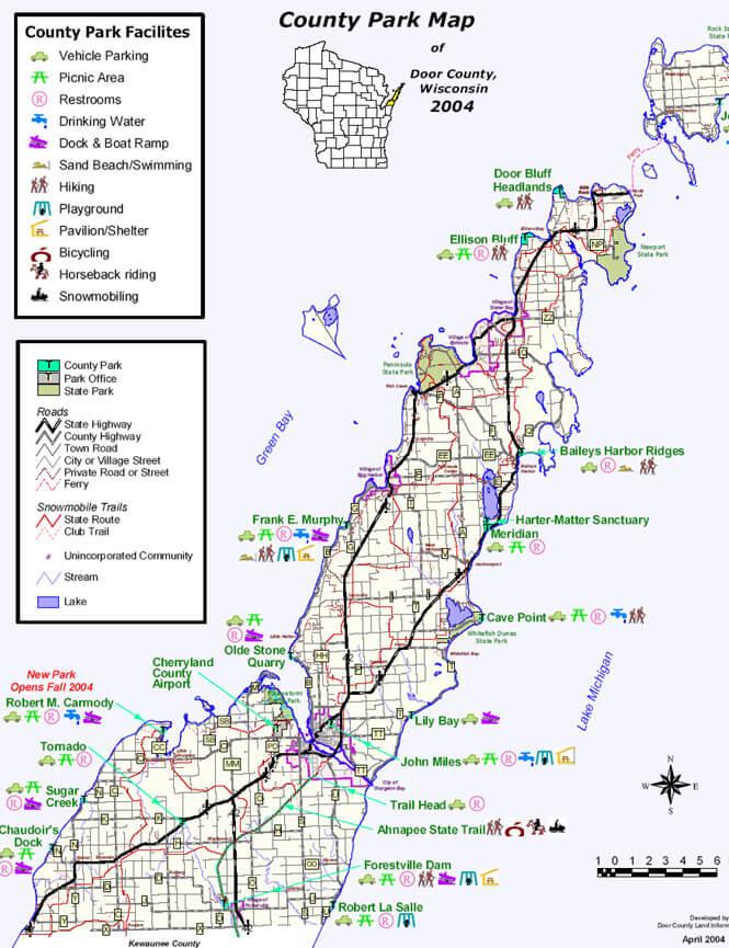 Door County Snowmobiling Map