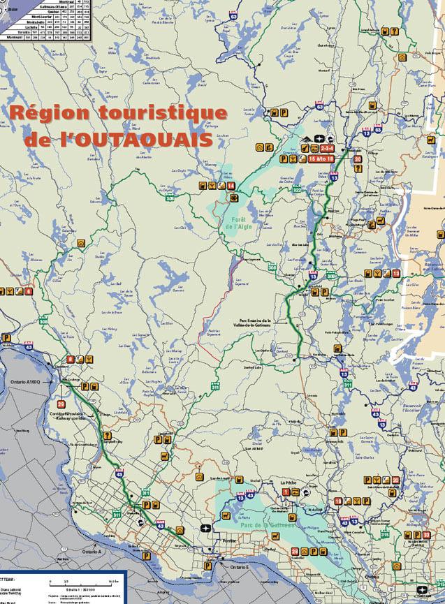 Outaouais Snowmobiling Map