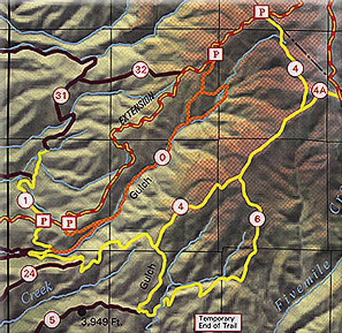 Upper 8th Street Trails Dirt Biking Map