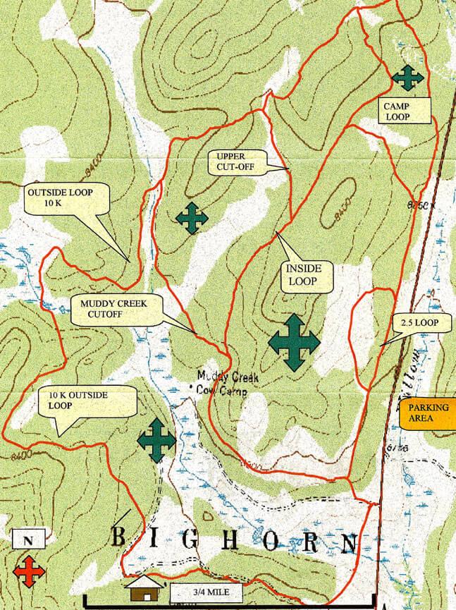 Pole Creek Nordic Ski Trails Cross Country Skiing Map