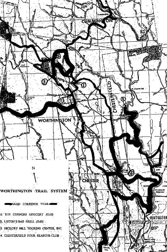 Worthington  Snowmobiling Map