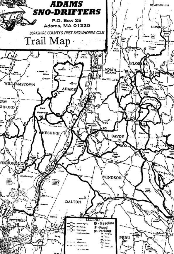 Adams  Snowmobiling Map